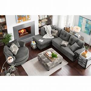 living room furniture cordelle 2 piece left facing With gray sectional sofa value city