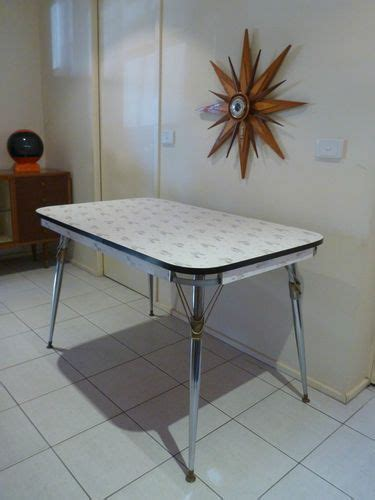 retro laminex laminate kitchen dining table