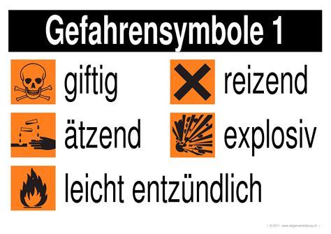 chemie lernplakate wissensposter gefahrensymbole
