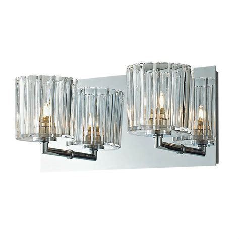 crystal bathroom wall 2 light fixture candle sconces