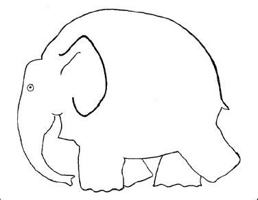 Elmer The Elephant Template by Template For Elmer The Elephant Painting Craft Preschool