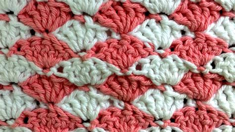 shell stitch crochet shell crochet stitch change color every row pattern by maggie weldon youtube