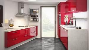 davausnet idee deco cuisine blanc et rouge avec des With idee deco cuisine avec cuisine rouge et noir