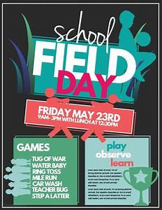 field day template postermywall With sports day poster template