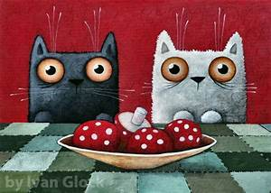 Kochen Für Katzen : katzen essen pilze k che bild moderne kunst ivan glock ~ Lizthompson.info Haus und Dekorationen