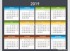 design kalender tahun 2019 masehi atau 1440 hijriah