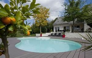 construire une piscine en bois semi enterree With marvelous terrasse piscine semi enterree 8 piscine bois ronde