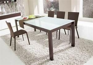 Plateau De Table En Verre : table a manger wenge verre ~ Teatrodelosmanantiales.com Idées de Décoration