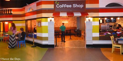 The coffee shop is a brick build freely downloadable from the builds showcase in lego worlds. Savor The Days: Summer Fun {Eat & Play} at LEGOLAND Discovery Center DFW