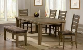 5 dining room set with bench dining room tables with benches homesfeed