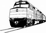 Diesel Clipart Locomotive Electric Train Clip Modern Trains Coloring Cliparts Emd Pages Engine Motives Loco T1 Railroad Related sketch template