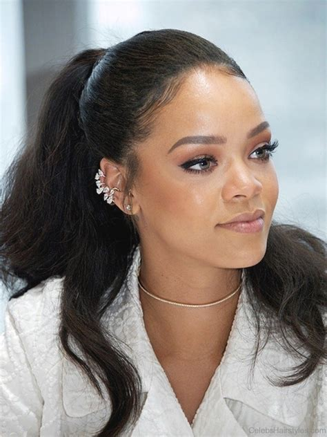 hair style pictures rihanna ponytail hairstyles fade haircut