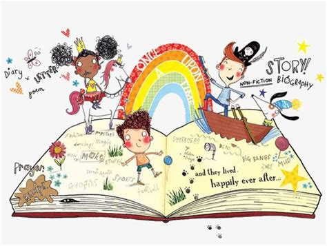 Hand-painted Fairy Tale Book, Book Clipart, Fairy Tale