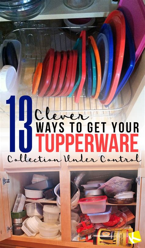 clever ways    tupperware collection  control  krazy coupon lady