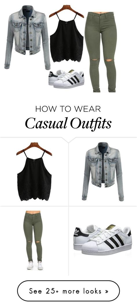 U0026quot;Casual daytime outfitu0026quot; by theriptide on Polyvore featuring LE3NO adidas Originals womenu0026#39;s ...