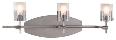 Adjustable Bathroom Vanity Lights by Brushed Nickel Adjustable Three Light Bathroom Fixture