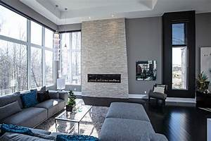 Contemporary living room in grey tones - Contemporary