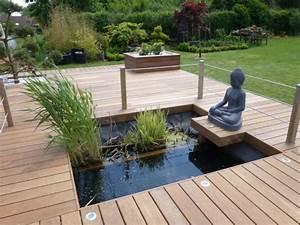 bassin de jardin avec terrasse en bois bassin de jardin With bassin de terrasse en bois