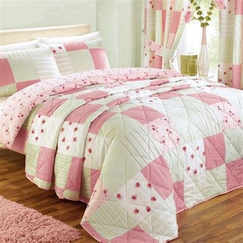 Dreams And Drapes Bedding - dreams drapes patchwork duvet cover set in pink