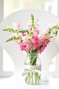Pink Mason Jar Flower Arrangements