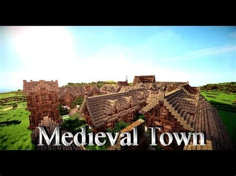 minecraft medieval town map  youtube