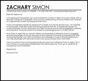 check in agent cover letter sample livecareer With proofread my letter