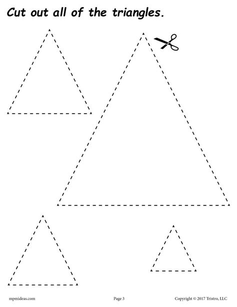 free triangles cutting worksheet triangles tracing 402 | Cut 20out 20the 20shapes triangle 1024x1024