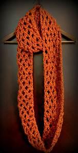 Free Pattern  Diamond Lattice Chain Crochet Infinity Scarf