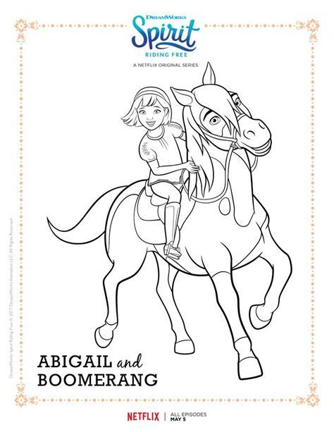 spirit riding  abigail  boomerang coloring page