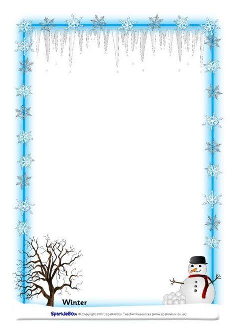 weather  seasons  page borders sb sparklebox