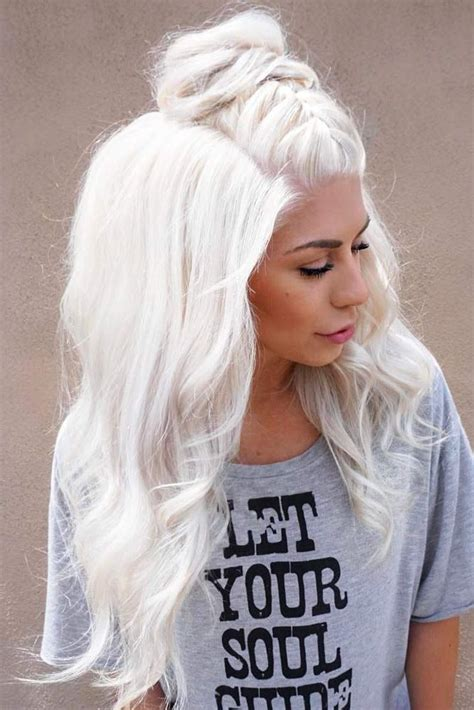 trending platinum blonde hair ideas  pinterest