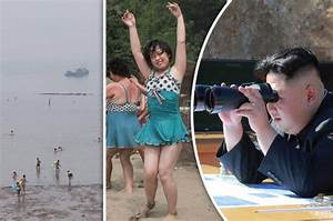 Starving North Koreans frolic on FAKE beach in eerie ...