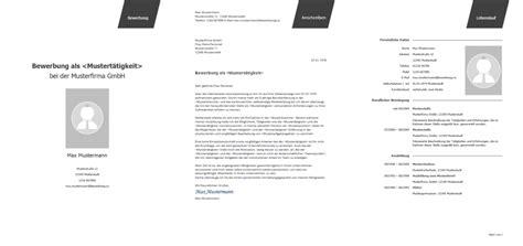 Bewerbungsvorlagen Kostenlos by Bewerbung Muster Vorlagen Kostenlos Herunterladenvorlage