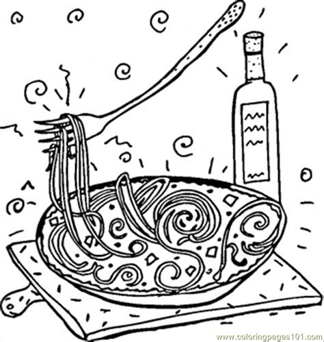 coloring pages italian spaghetti countries italy
