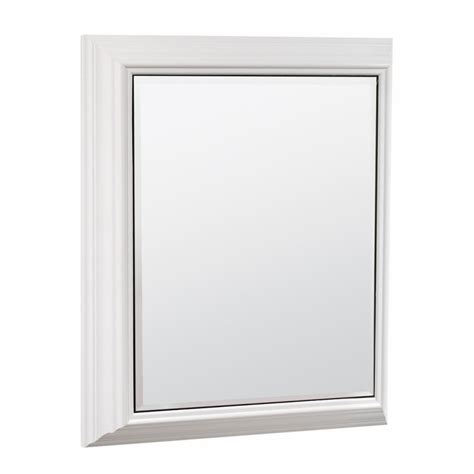 lowes canada medicine cabinets estate by rsi 22 5 in x 27 5 in rectangle surface mirrored