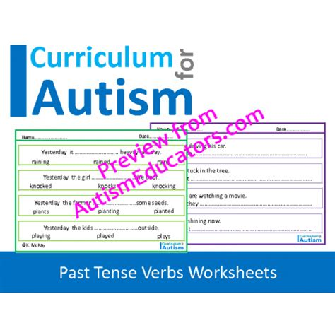 past tense verbs worksheets no prep