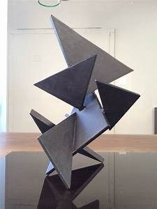 Geometric Constructivist Table Sculpture Composed of Thick ...