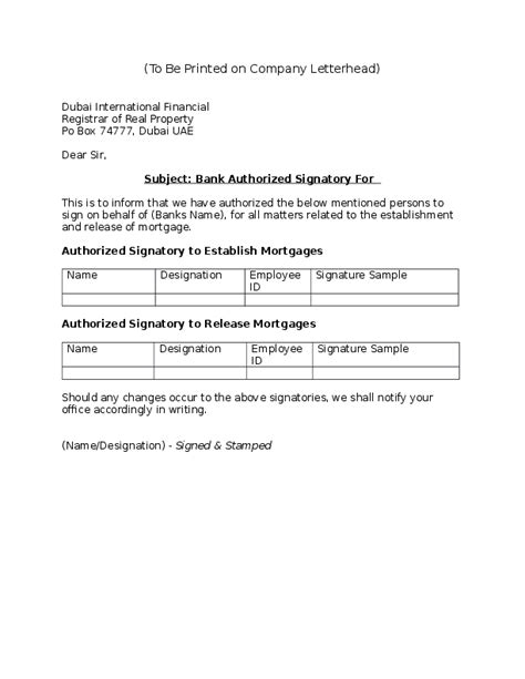 authorised signatory introduction letter sample  chong