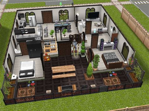modern design inspired sims freeplay house idea sims