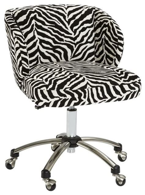 animal print desk chair zebra wingback desk chair eclectic office chairs by