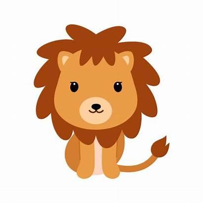 Lion Vector Illustration Cub Adorable Clip Flat
