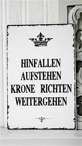 Vintage Schilder Mit Sprüchen : namens t rschilder xl 26x17cm shabby vintage schild krone nostalgie ein designerst ck von ~ A.2002-acura-tl-radio.info Haus und Dekorationen
