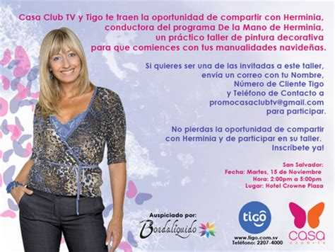atencion el salvador tigo casa club tv invitan al workshop de