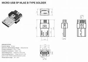 Micro Usb Charging Socket Dimensions