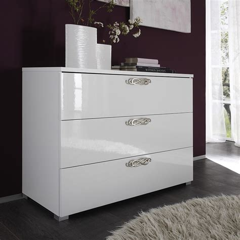 commode chambre adulte commode 3 tiroirs design blanche infinity zd1 comod a d