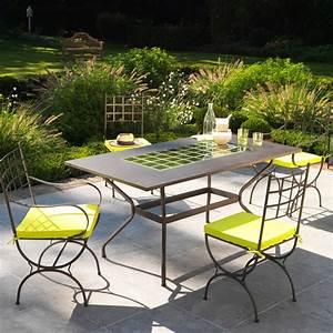 Mobilier exterieur fer forge for Deco cuisine pour salon de jardin