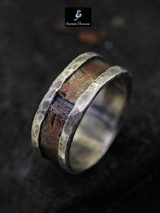rustic men ring silver copper ring men39s by eternitapreziosa With wedding ring for a man