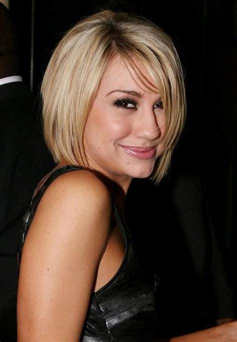 cute short blonde bob haircut  bangs popular bob