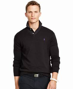 Polo V : polo ralph lauren pima v neck sweater in black for men polo black lyst ~ Gottalentnigeria.com Avis de Voitures
