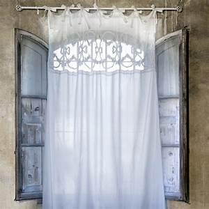 Rideau Blanc Cassé : rideau long blanc cass liliane collection de chez blanc mariclo ~ Teatrodelosmanantiales.com Idées de Décoration